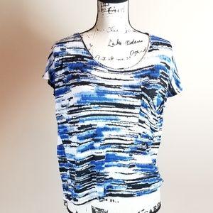 Kensie Ladies Blue/White/Black Size Medium Short S